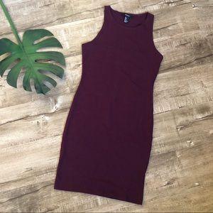 Forever 21 Burgundy BodyCon Stretch Tank Dress